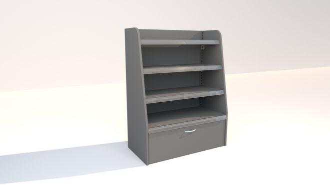 4-233 3D bild stycksaksställ med belsysning lågt