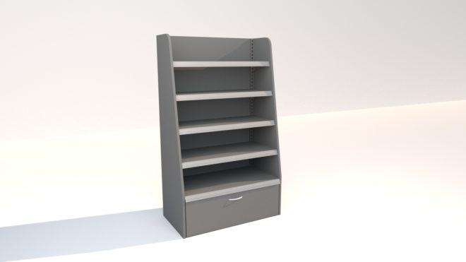 4-234 3D bild stycksaksställ med belysning högt