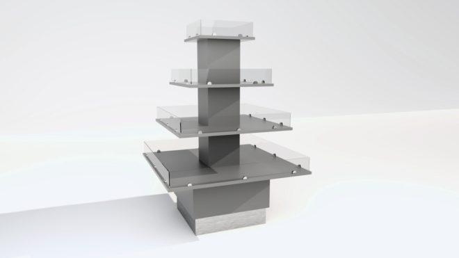 4-310 3D bild Exponeringspyramid