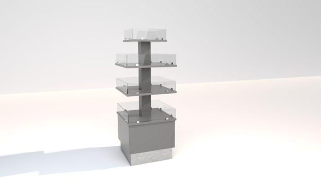 4-311 3D bild Exponeringstorn